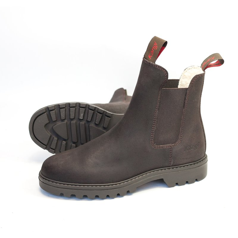 Winterstiefelette Kängi on Ice -45- darkbrown split oiled